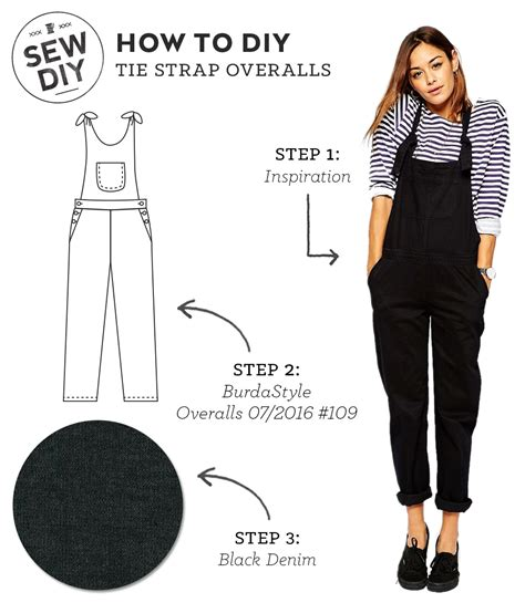 sewing pattern overalls how to diy tie strap overalls sew diy