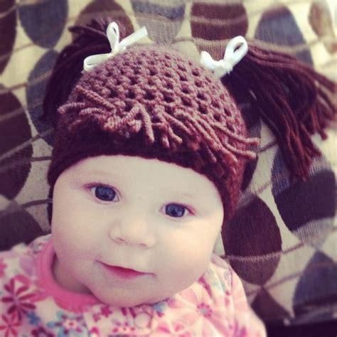 cabbage patch hat crochet attach hair how to attach hair to cabbage patch crochet hat items