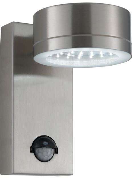 Outdoor Lighting With Pir Modern Led Stainless Steel Outdoor Pir Wall Light 9550ss