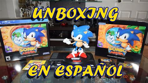Sonic Mania Collector Edition Ps4 sonic mania collector s edition ps4 unboxing espa 241 ol
