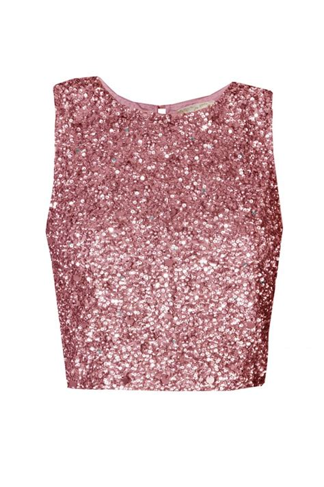 lacebeads picasso fuchia sequin top lacebeads tops