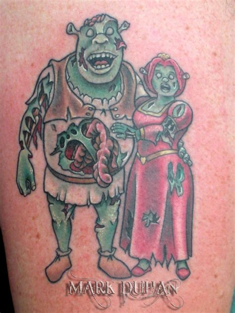 shrek tattoo shrek and fiona by amduhan on deviantart