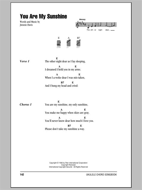Strumming Pattern For You Are My Sunshine Ukulele | jimmie davis you are my sunshine ukulele with strumming