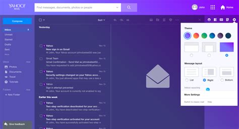 change yahoo mail page layout 5 ways to customize yahoo mail