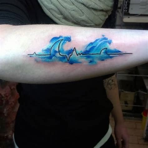 wave heartbeat tattoo 70 fantastic ekg heartbeat tattoos ideas design gallery