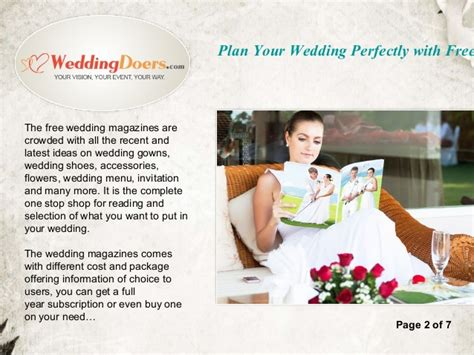 Plan Your Wedding by Plan Your Wedding Perfectly With Free Wedding Magazines