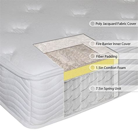 comfort spring sleep master 9 inch comfort spring mattress king