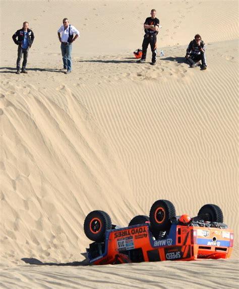 Gorden Roll Robby Gordon Rolls In Dakar Takes This Epic Picture