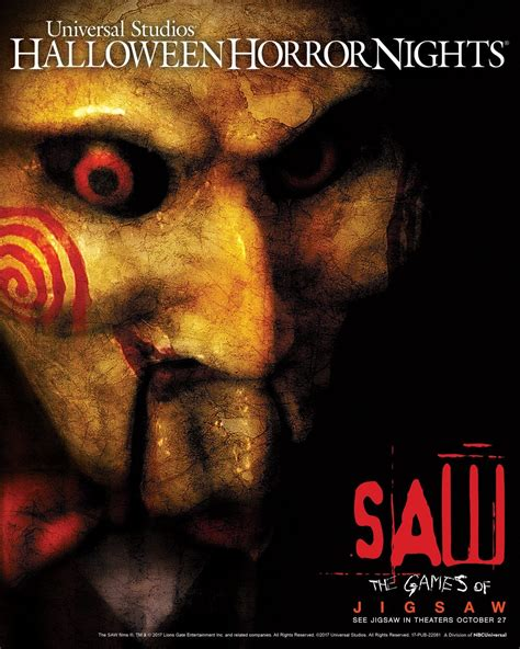 universal film 2017 universal orlando announces saw the games of jigsaw