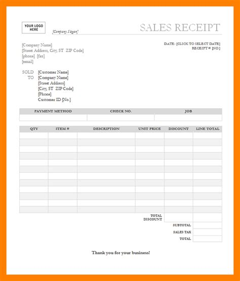 6 ms word receipt template janitor resume