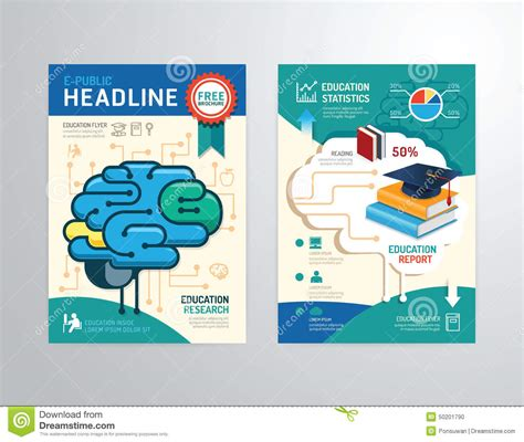 templates for educational posters vector brochure flyer magazine cover booklet poster
