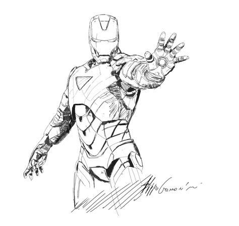 iron man sketch www filippocremonini com