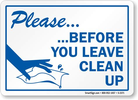 Sle Memo Keeping Office Kitchen Clean Clean Up Sign With Graphic Sku S 2371 Signs And Notices Housekeeping