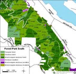 forest park south area vegetation the city