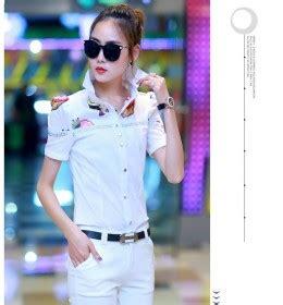 Ks Kemeja Korea Murah Kekinian Modern Import kemeja wanita putih polos lengan panjang model terbaru jual murah import kerja