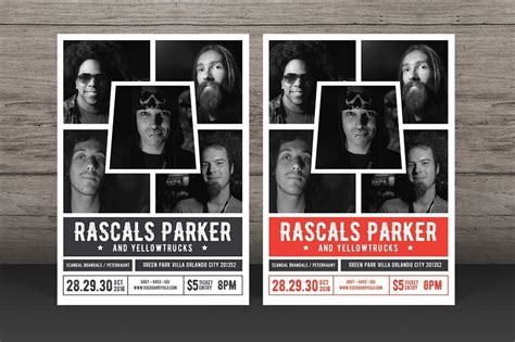 30 Best Music Band Flyer Templates Band Promo Template
