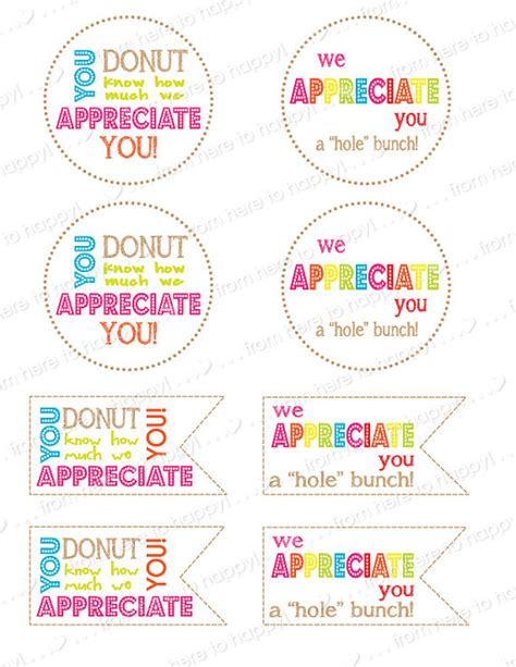 printable thank you notes for teachers to give to students donut holes teacher gifts teacher appreciation thank