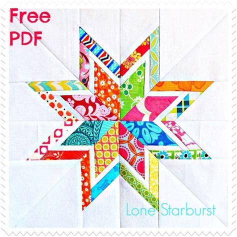free printable paper piecing quilt blocks free pdf lone starburst paper pieced quilt block