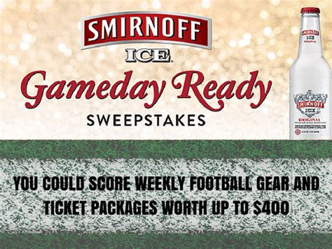 Smirnoff Ice Sweepstakes - win great football gear from smirnoff ice blissxo com