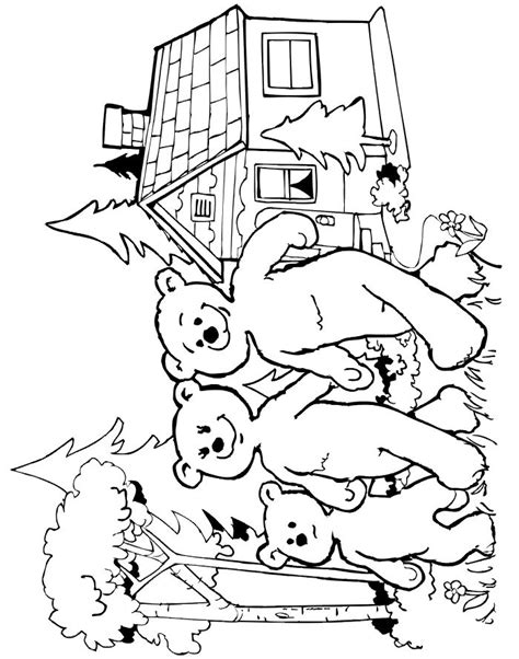 3 Bears Coloring Page by Goldilocks Coloring Page Of The Three Bears Leaving The