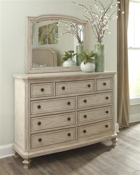 white distressed bedroom furniture demarlos bedroom mirror by millennium