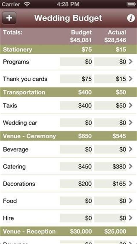 Wedding Budget Planner App by The 5 Best Apps For Wedding Planning Inviter