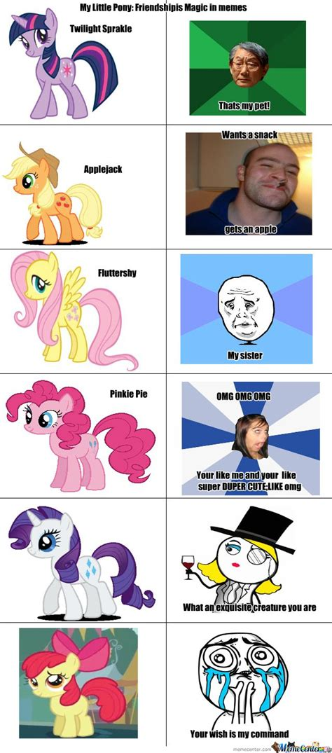 My Little Ponies Meme - my little pony meme my little pony in memes meme