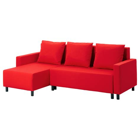 ikea chaise couch lugnvik sofa bed with chaise longue tall 229 sen red ikea