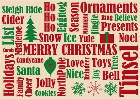 Christmas Gift Card Words - many christmas words christmas cards from cardsdirect