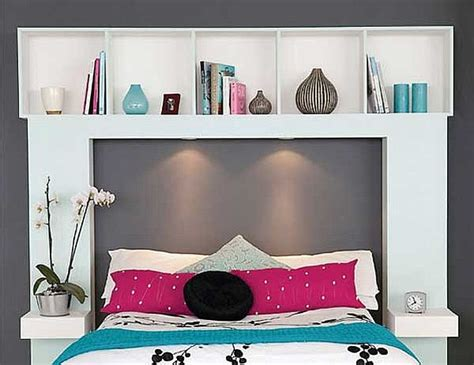 diy headboard with shelves storage headboard the homesource