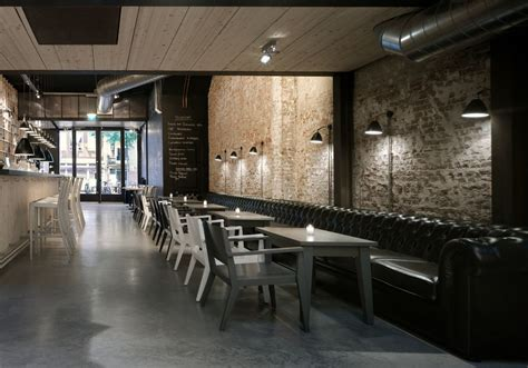 classic restaurant interior design in amsterdam love the long leather bench seat and the