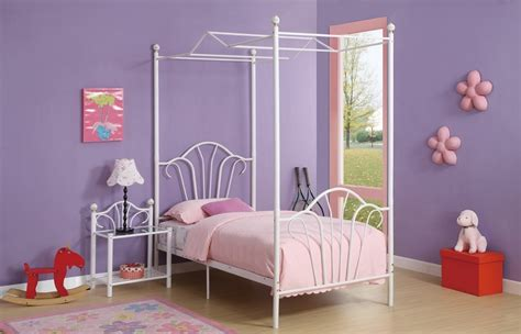 twin size canopy bed isabella twin size tubular white metal canopy bed frame