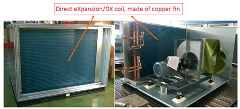 dx fan coil dx fresh air handling unit with air condenser for food