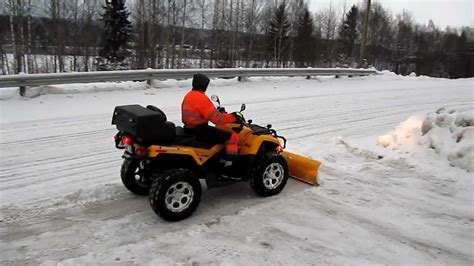 snow can can am outlander 800 snow plow