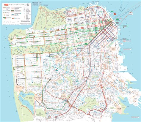 san francisco map printable san francisco transportation map san francisco