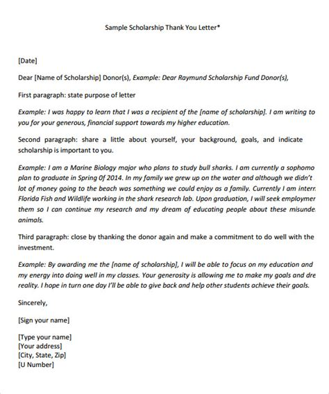 cover letter to apply for scholarship