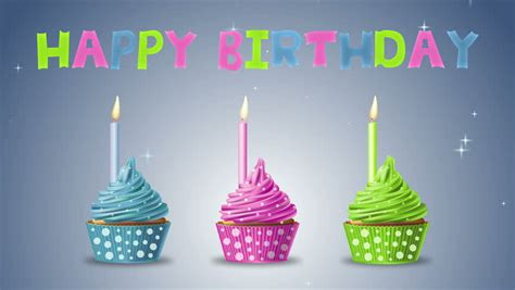 happy birthday videos stock video clip of happy birthday with cupcakes and