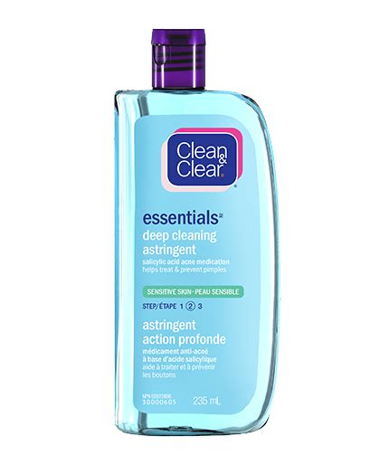 Toner Astringent essentials cleaning astringent for sensitive skin