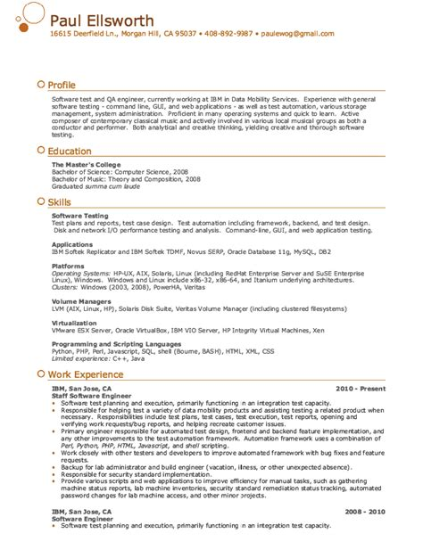qa engineer resume sample resumes design