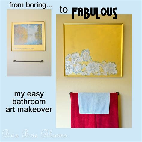 My Easy Bathroom Art Makeover   Brie Brie Blooms