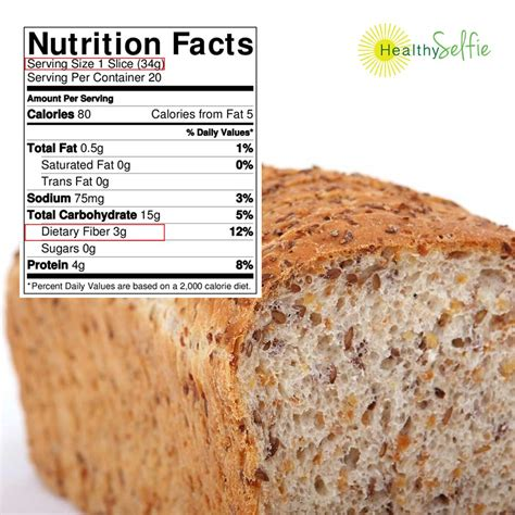 3 facts about whole grains bread whole wheat prepared from recipe nutrition facts