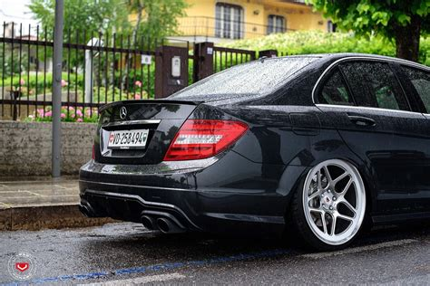 bagged mercedes amg c63 amg bagged vossen forged lc series check it out
