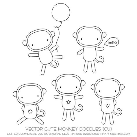 how to draw a doodle monkey 121 best images about easy draw on minecraft
