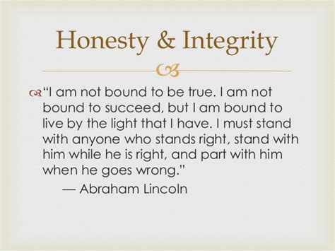 abraham lincoln integrity honesty integrity revised