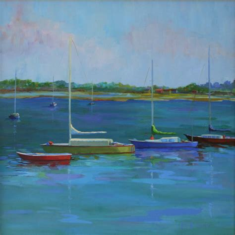 x sailboats daily paintings by elizabeth blaylock american
