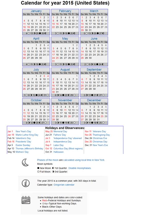 2015 Calendar Printable With Holidays Search Results For Printable 2015 Calendar With Holidays