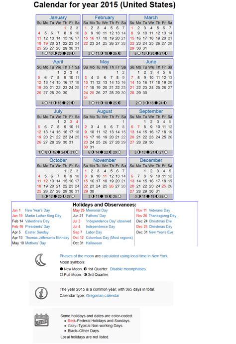 printable calendar timeanddate com calendar printable calendar 2015 printable with holidays