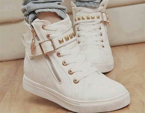 Cutie Bootie Shoes White sneakers studs studded shoes white and gold