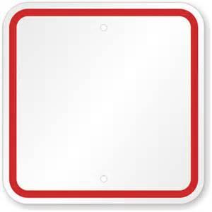 blank sign templates red printed border custom sku k