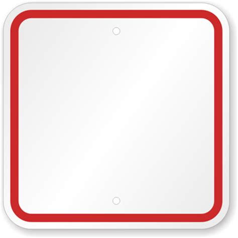 blank sign templates red printed border custom sku k